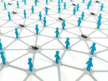 Concetto sociale del collegamento a Internet, rete 3d Fotografie Stock