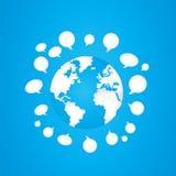 Concetto sociale del mondo di media Immagine Stock