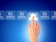Concetto sociale della rete. Fotografie Stock Libere da Diritti