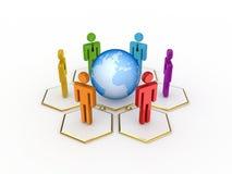 Concetto sociale della rete. Fotografie Stock