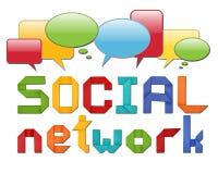 Concetto sociale della rete Fotografie Stock Libere da Diritti
