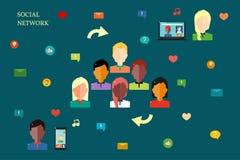 Concetto sociale della rete Fotografia Stock