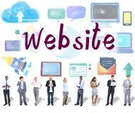 Concetto sociale della rete del collegamento di media del sito Web immagine stock