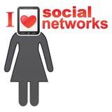 Concetto sociale delle reti Fotografia Stock