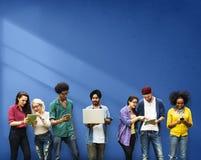 Concetto sociale di comunicazione del collegamento della rete di media Fotografia Stock