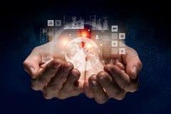 Concetto sociale di interazione 3d rendono Immagini Stock Libere da Diritti