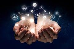 Concetto sociale di interazione 3d rendono Fotografia Stock