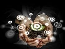 Concetto sociale di interazione 3d rendono Fotografia Stock Libera da Diritti