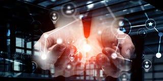Concetto sociale di interazione 3d rendono Immagine Stock