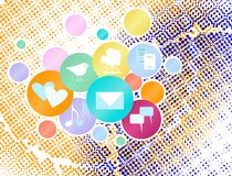 Concetto sociale di media Immagini Stock Libere da Diritti