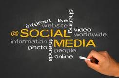 Concetto sociale di media Fotografie Stock Libere da Diritti