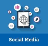 Concetto sociale di media Fotografia Stock Libera da Diritti