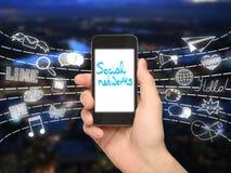 Concetto sociale di media Fotografia Stock