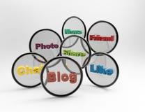 Concetto sociale di parola di media illustrazione di stock