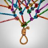 Concetto sociale di suicidio Immagini Stock