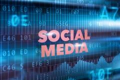 Concetto sociale di tecnologia di mezzi d'informazione Fotografia Stock