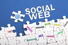 concetto sociale di web Fotografia Stock