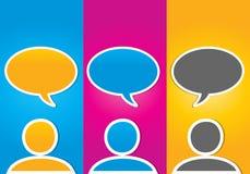 Concetto sociale variopinto di comunicazione di media Immagine Stock