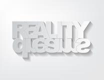 Concetto sogni/di realtà Fotografia Stock