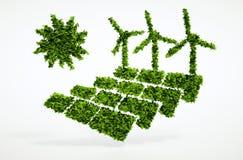 Concetto sostenibile di energia di ecologia Fotografia Stock Libera da Diritti