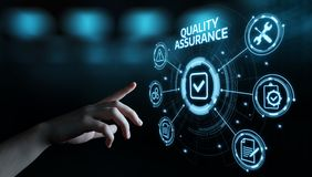 Concetto standard di tecnologia di affari di Internet di garanzia di servizio di assicurazione di qualità fotografia stock