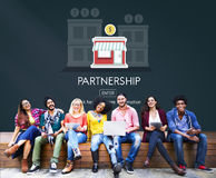 Concetto Startup di affari del lancio di associazione nuovo Fotografia Stock Libera da Diritti