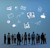 Concetto Startup di successo della crescita dell'impresa di affari immagine stock