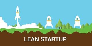 Concetto startup magro illustrazione di stock