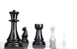 Concetto strategico di affari della scacchiera Fotografie Stock