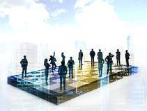 Concetto strategico di lavoro di squadra e di pianificazione immagine stock