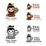 Concetto tailandese del logos dell'alimento Fotografie Stock Libere da Diritti