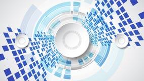 Concetto tecnologico astratto del fondo con i vari elementi di tecnologia illustrazione di stock