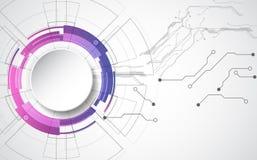 Concetto tecnologico astratto del fondo con i vari elementi di tecnologia vettore dell'illustrazione illustrazione vettoriale