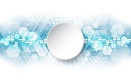 Concetto tecnologico astratto del fondo con i vari elementi di tecnologia vettore dell'illustrazione royalty illustrazione gratis