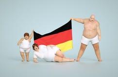 Concetto tedesco di obesità Immagini Stock Libere da Diritti