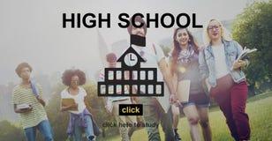 Concetto teenager di studio casuale di insegnamento superiore della High School Fotografia Stock