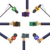 Concetto in tensione di notizie Immagini Stock Libere da Diritti