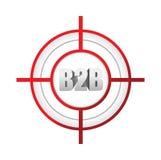 concetto tra imprese del segno dell'obiettivo di b2b Fotografia Stock