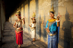 Concetto tradizionale del tempio della cultura tradizionale cambogiana Fotografie Stock