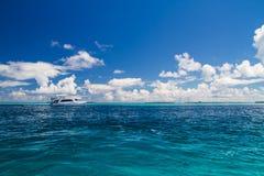 Concetto tropicale del paesaggio del mare di panorama Fotografia Stock