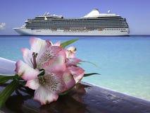 Concetto tropicale di vacanza di crociera o di festa Fotografie Stock