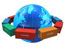 Concetto in tutto il mondo di trasporto Immagine Stock Libera da Diritti