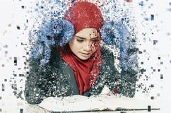Concetto umano di sensibilità di espressione di emozione, giovane affare sollecitato Fotografia Stock Libera da Diritti