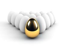 Concetto unico di direzione dell'uovo Fotografia Stock