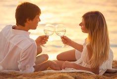 Concetto, uomo e donna di luna di miele nell'amore Fotografie Stock