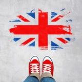 Concetto urbano britannico della gioventù Fotografia Stock