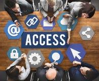Concetto utilizzabile disponibile di accessibilità di Access immagine stock
