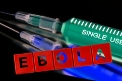 Concetto vaccino di scoperta di ebola immagini stock libere da diritti
