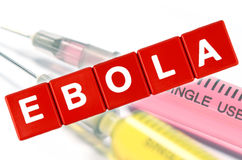 Concetto vaccino di scoperta di ebola fotografie stock