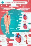 Concetto variopinto di Infographic di assistenza medica immagine stock libera da diritti